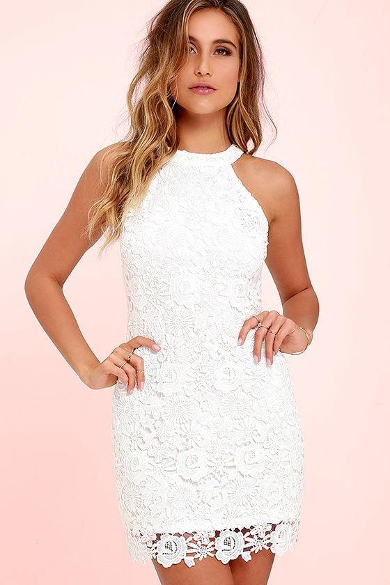 Love Poem Ivory Lace Dress 1