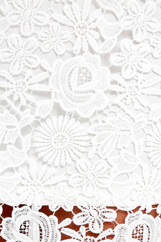 Love Poem Ivory Lace Dress 6