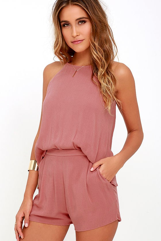 Olive & Oak Canyon Companion Rusty Rose Romper 1