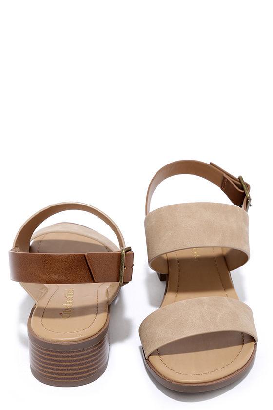 Tulum Trek Camel Heeled Sandals 3