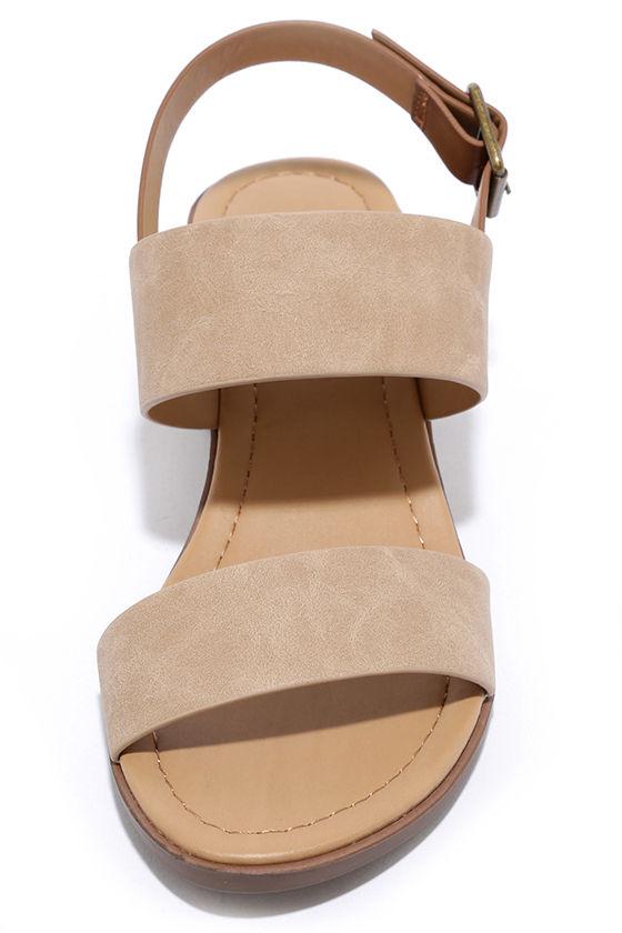 Tulum Trek Camel Heeled Sandals 5