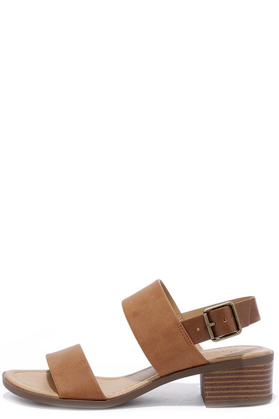 Tulum Trek Tan Heeled Sandals 1
