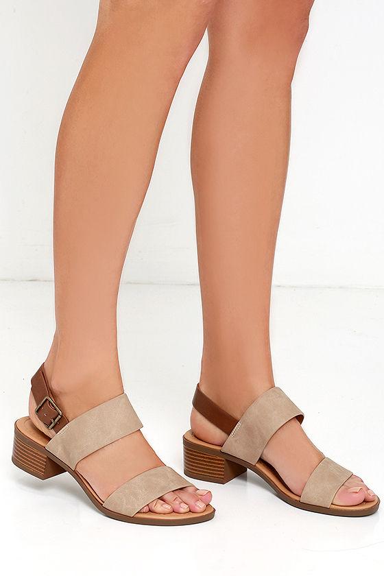 Tulum Trek Camel Heeled Sandals 2
