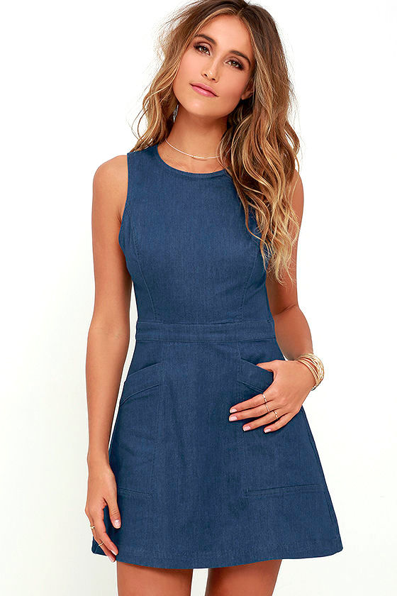 That's Jean-ius Blue Chambray Dress 1