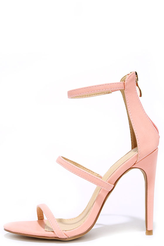 Sexy Blush Heels - Dress Sandals - High Heel Sandals - $32.00