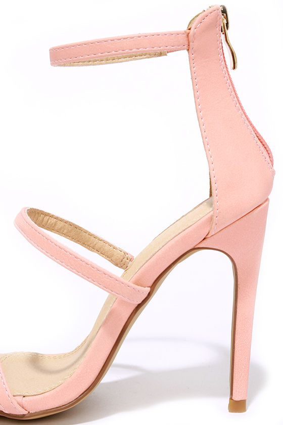 blush heels dress sandals high heel sandals 32 00