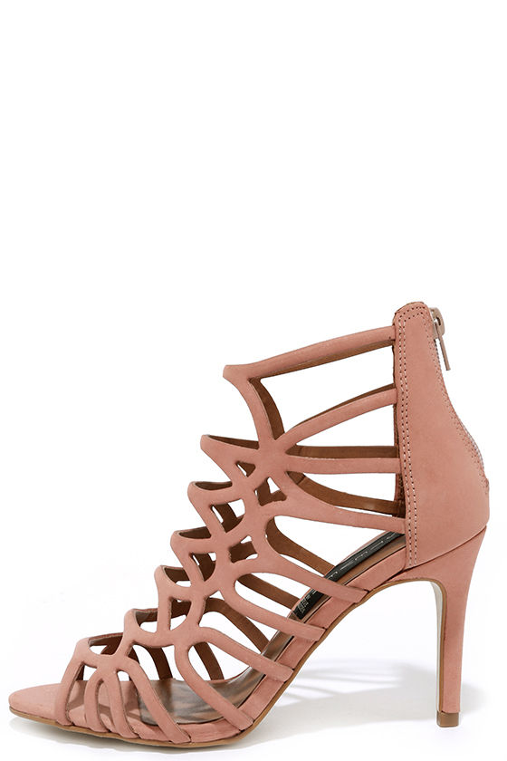 Sexy Dusty Pink Heels - Caged Heels - Dress Sandals - $119.00