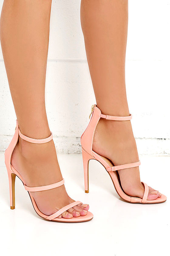 a078a1fe6e3b Sexy Blush Heels - Dress Sandals - High Heel Sandals -  32.00