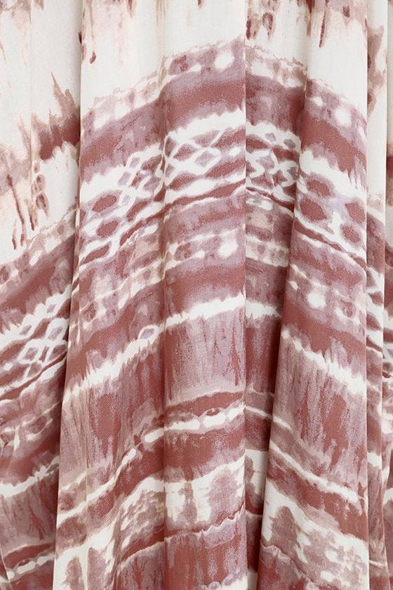 Yours Tule Mauve Tie-Dye Maxi Dress 6