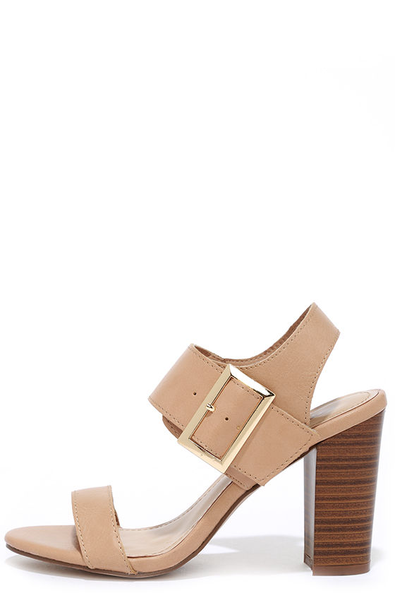 THRILL THE MESSENGER NATURAL HIGH HEEL SANDALS Image
