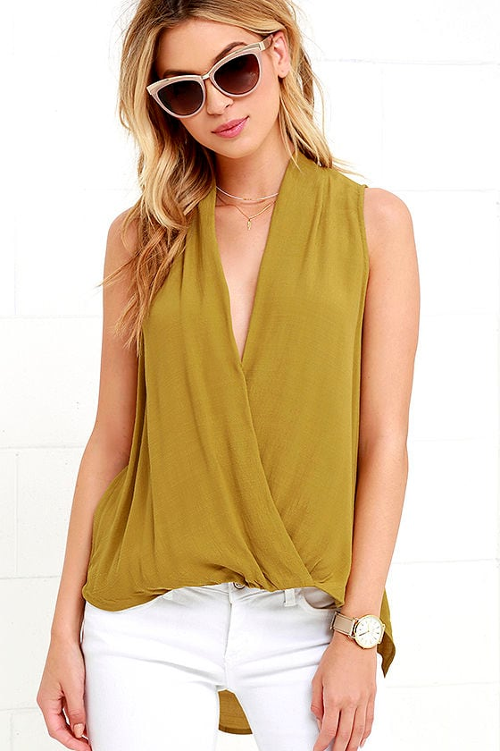 Chartreuse Top High Low Top 3800
