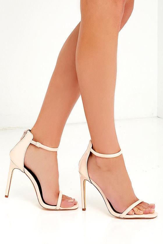 Pretty Nude Heels Ankle Strap Heels Patent Heels 28 00