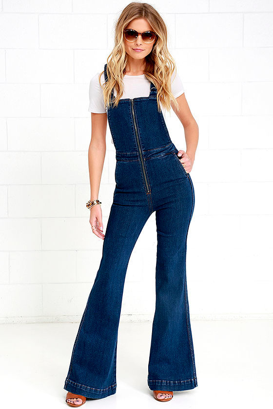 b369277c5f1 Rollas Eastcoast Overalls - Flare Overalls - High-Waisted Overalls -  139.00