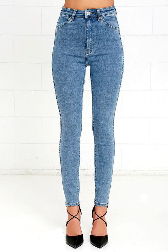 Rollas Eastcoast Ankle - Skinny Jeans - Light Wash Denim - High ...