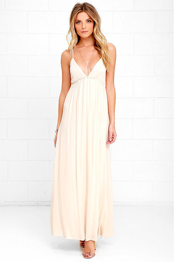 Explore Every Avenue Light Beige Maxi Dress at Lulus.com!