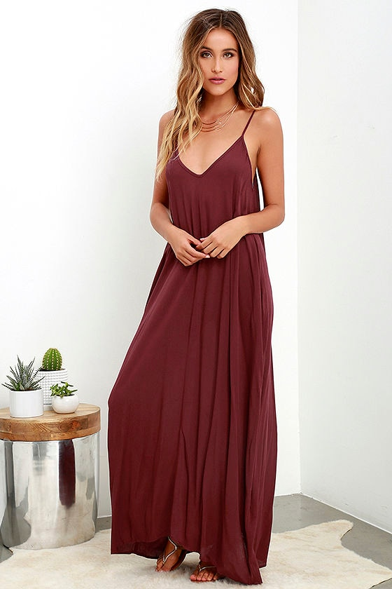 Yours Tule Burgundy Maxi Dress 2