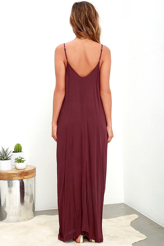 Yours Tule Burgundy Maxi Dress 4