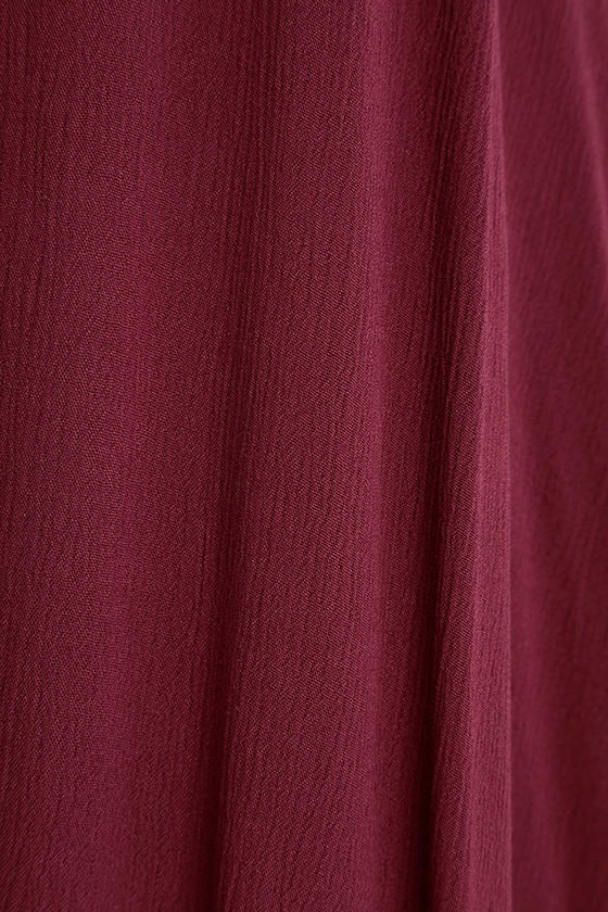 Yours Tule Burgundy Maxi Dress 6