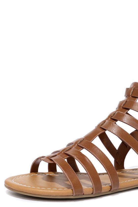Sand a Chance Tan Gladiator Sandals 6