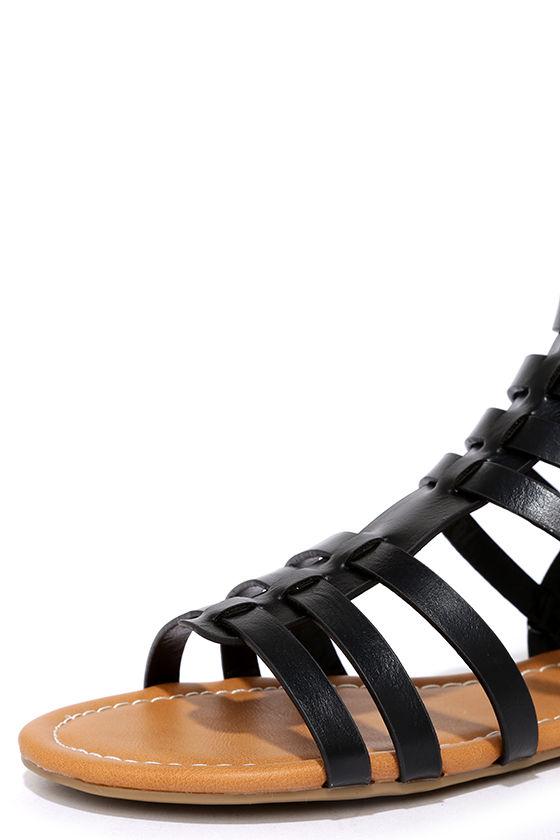 Sand a Chance Black Gladiator Sandals 6