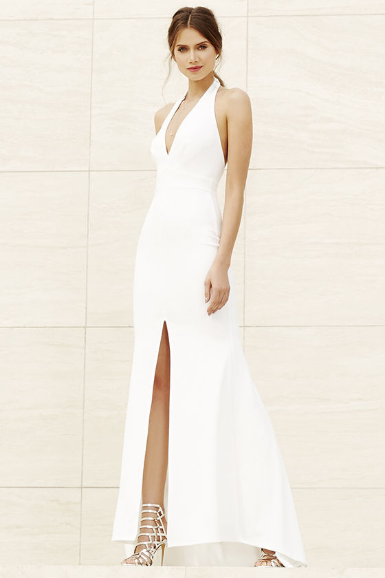 8e1961f114 Ivory Dress - Maxi Dress - Halter Dress - White Dress -  98.00