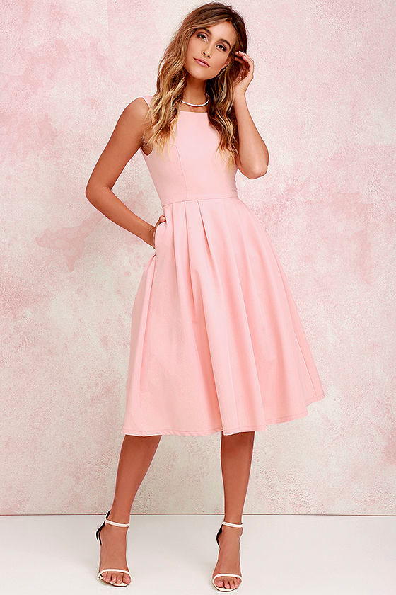 peach dress midi dress tulle dress