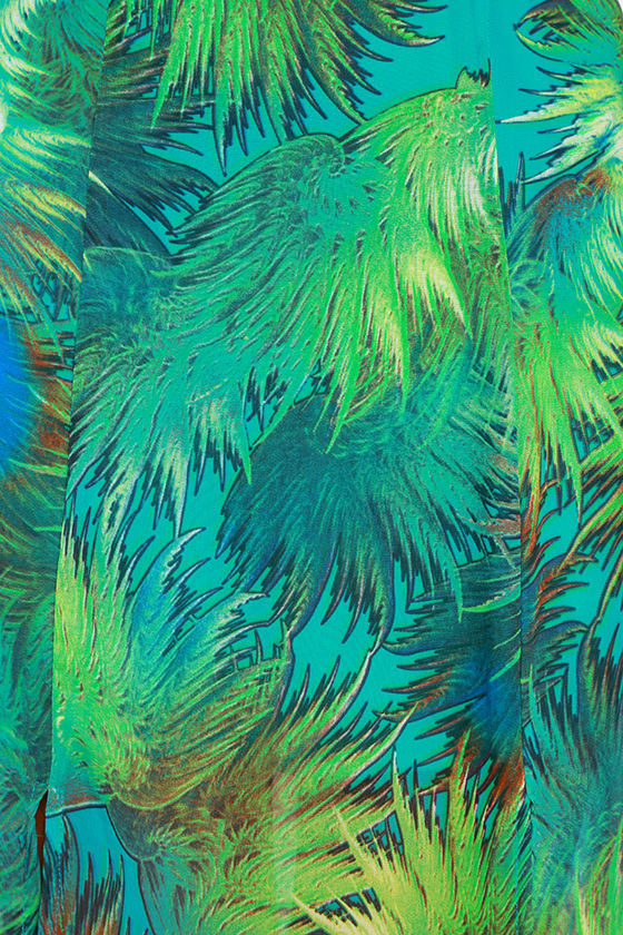 Tropic of Discussion Green Tropical Print Maxi Dress 7
