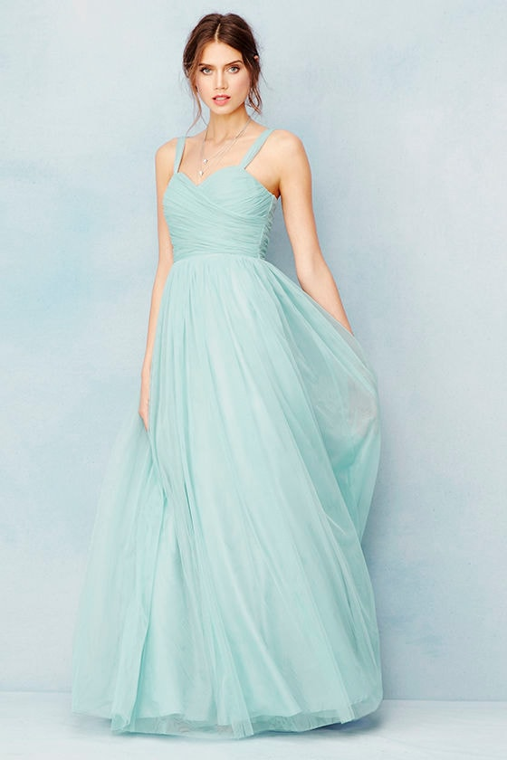 Sunday Kind of Love Seafoam Tulle Gown