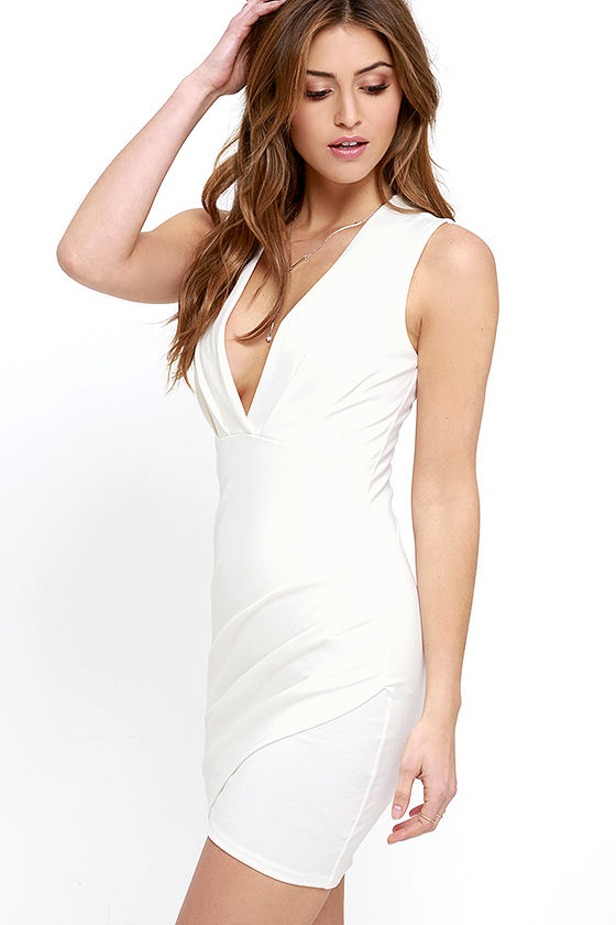 Cocktail Hour Ivory Wrap Dress 3
