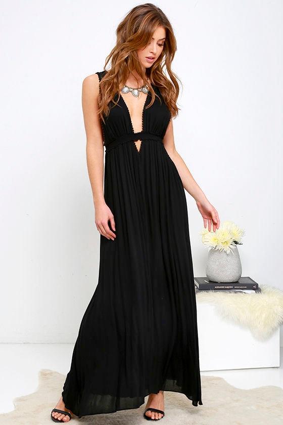 3f287a64d9 Maxi Dress Black Sleeveless 76 00. One Shoulder ...