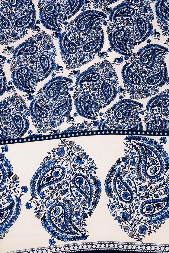 Taj Mahal Tour Blue Print Shift Dress 6