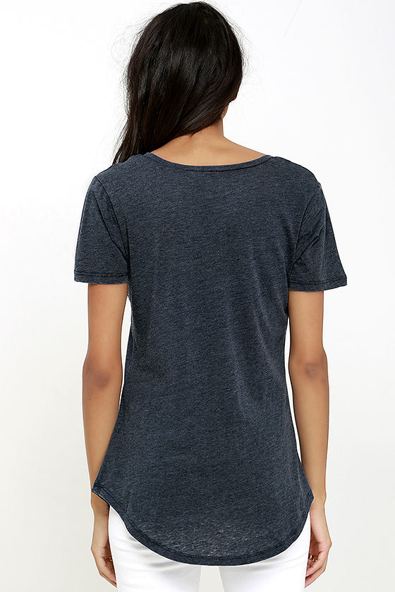 Z Supply Pleasant Surprise Washed Navy Blue Tee 4