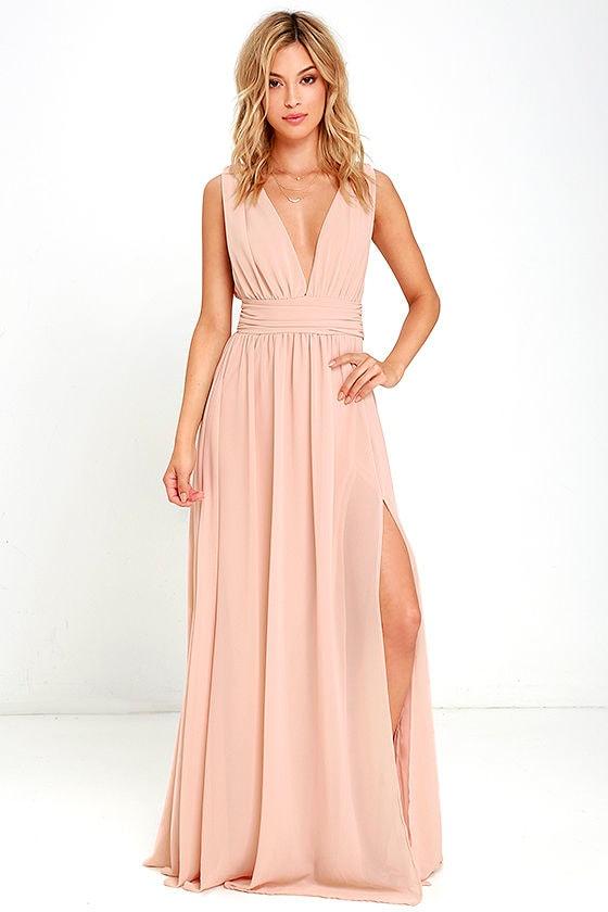 heavenly hues blush maxi dress 1