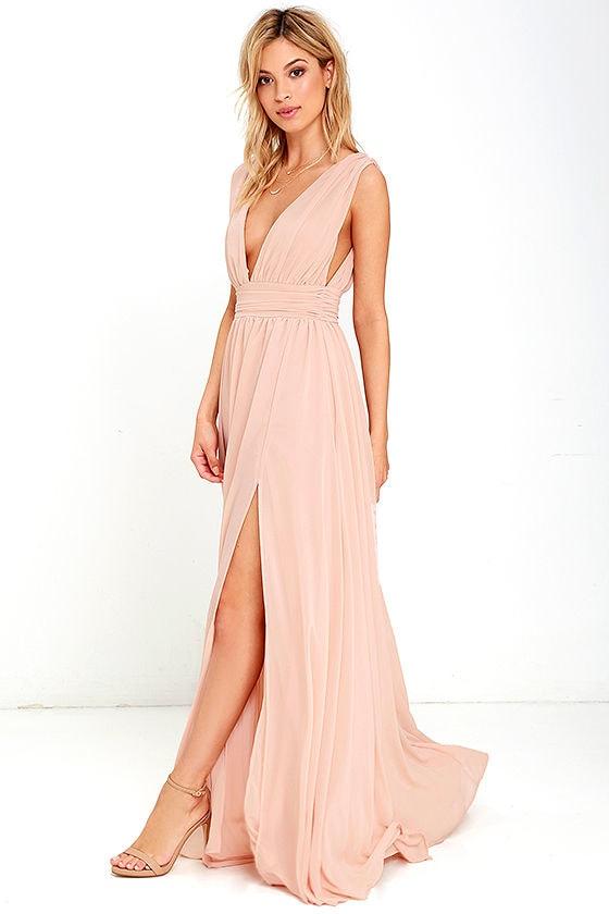 Heavenly Hues Blush Maxi Dress 3