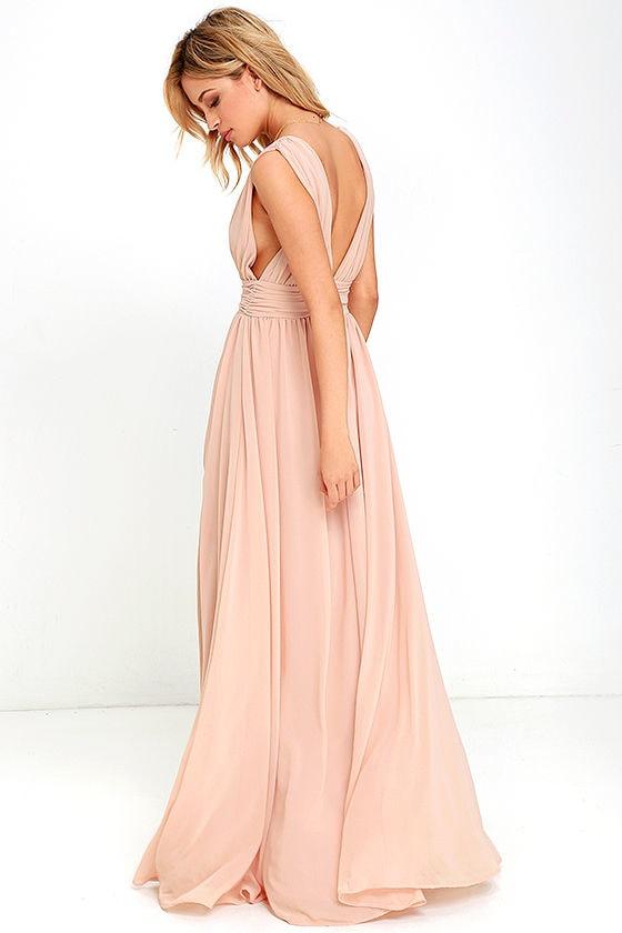 Heavenly Hues Blush Maxi Dress 4