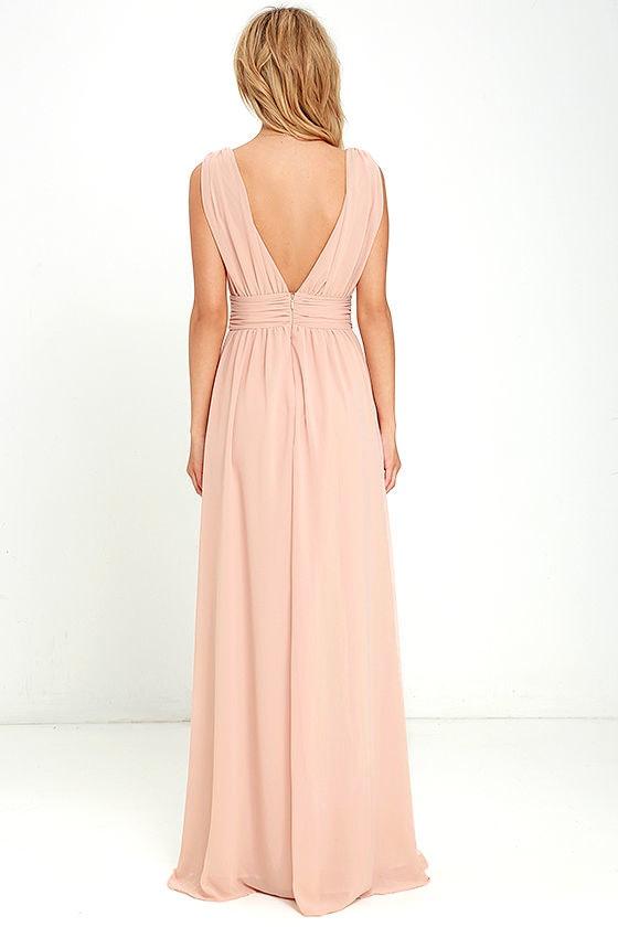 Heavenly Hues Blush Maxi Dress 5