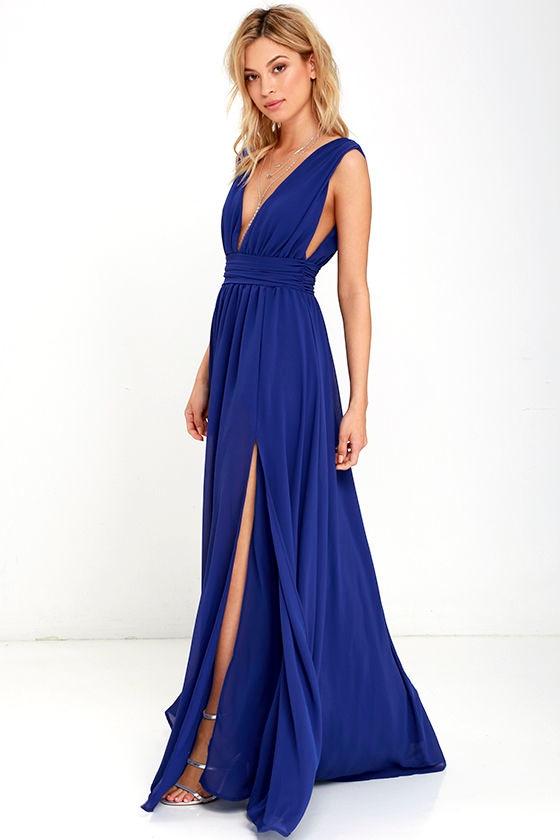 Royal Blue Gown - Maxi Dress - Homecoming Dress - $84.00 - photo #4