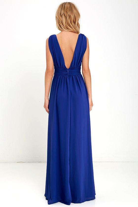 Royal Blue Gown - Maxi Dress - Homecoming Dress - $84.00 - photo #8