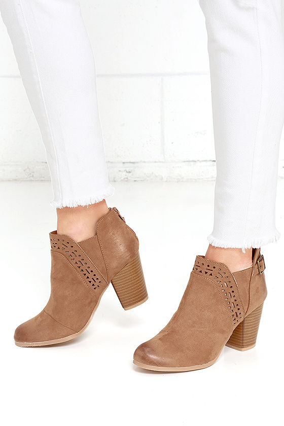 e95a800f0eabd In the Lead Camel Ankle Boots