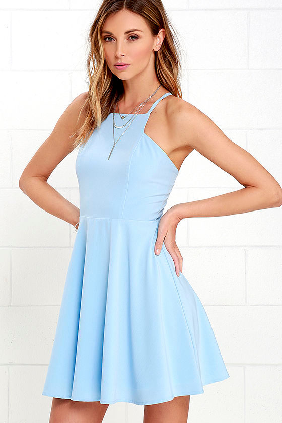 White and blue dresses for womens