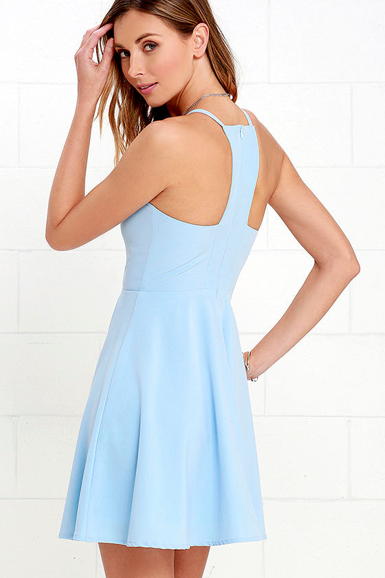 Call to Charms Light Blue Skater Dress 3