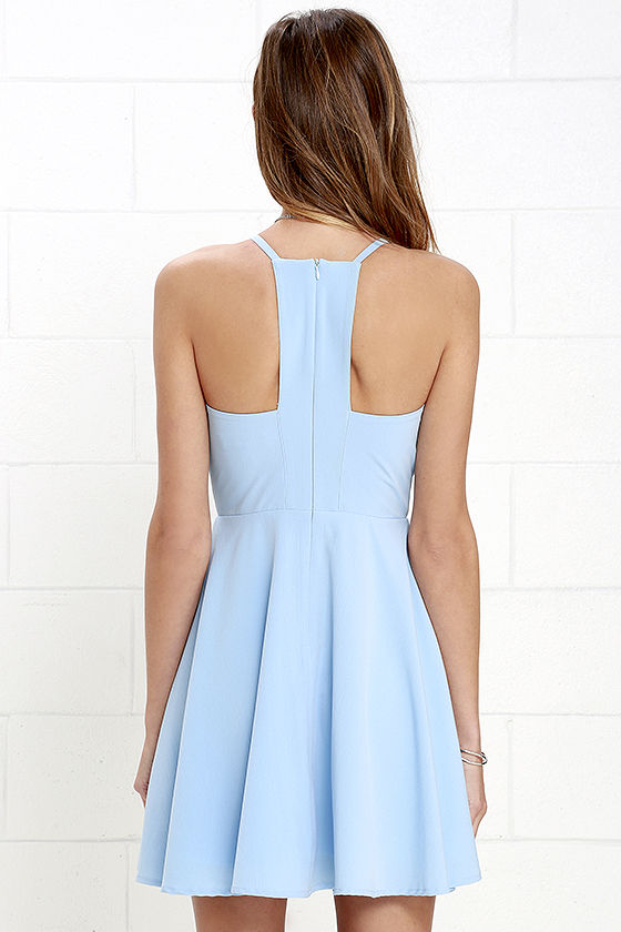Call to Charms Light Blue Skater Dress 4