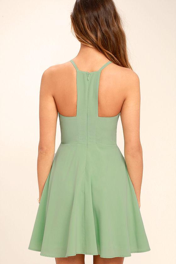 Call to Charms Sage Green Skater Dress 5