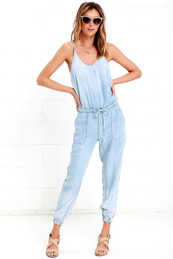 c16caf423a42 Blank NYC Jumpsuit - Chambray Jumpsuit - Bleached Jumpsuit -  91.00