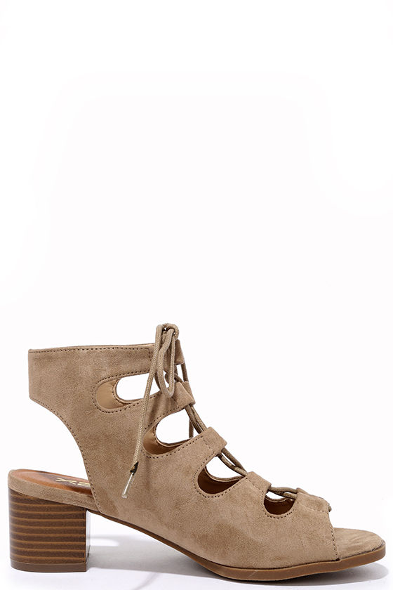 Talk That Talk Natural Suede Lace-Up Sandals 4
