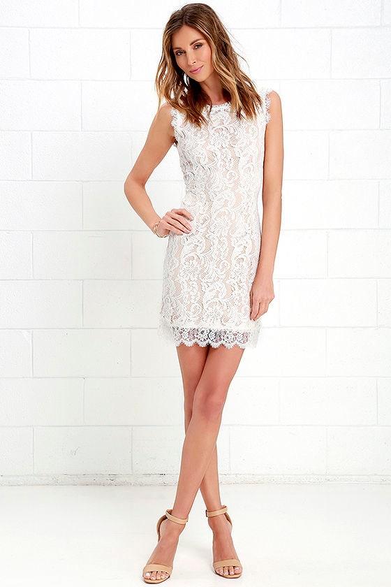 d2683e07d05 Pretty Ivory Dress - Ivory Lace Dress - Sleeveless Dress -  62.00