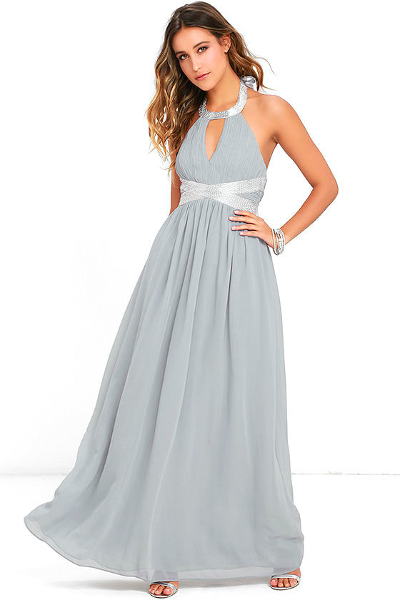 Days Gown By Grey Beaded Maxi Dress at Lulus.com!