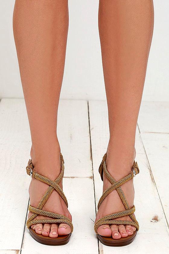 990824f105b Nina Savina Wedges - Army Green Sandals - Braided Wedges -  138.00