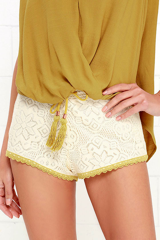 Oneill Bondi Beach Shorts Cream Shorts Lace Shorts 4950