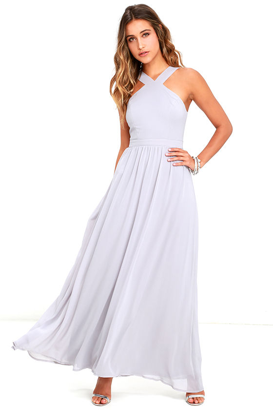 Air of Romance Grey Maxi Dress 1